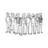 Young people icon Royalty Free Stock Photography