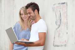 Young people and internet Royalty Free Stock Images