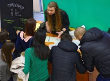 Young people on a job fair Royalty Free Stock Photography