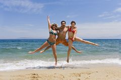 Young people jump royalty free stock photography