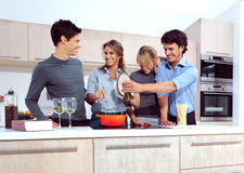 A young people in the kitchen Stock Image