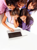 Young people with laptop Royalty Free Stock Photos