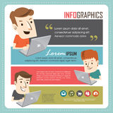 Young people with laptop Royalty Free Stock Image