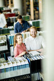 Young people in the library Royalty Free Stock Image