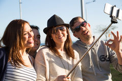 Young people making a selfie Stock Photo