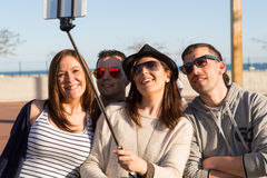 Young people making a selfie Royalty Free Stock Photography