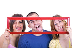 Young people making silly faces Royalty Free Stock Photos
