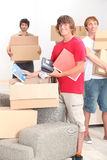 Young people moving Royalty Free Stock Image
