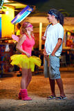 Young people on music festival. youth culture Royalty Free Stock Photo
