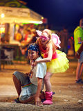 Young people on music festival. youth culture Royalty Free Stock Photography