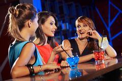 Young people in a nightclub Royalty Free Stock Image