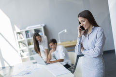 Young people in the office Royalty Free Stock Photo