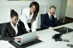 Young people in the office Stock Photo