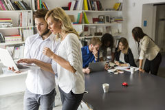 Young people in the office Stock Image