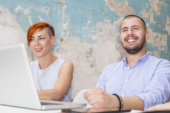 Young people in the office Stock Photos