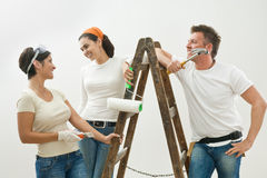 Young people painting Stock Photo