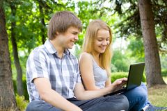 Young people in the park Stock Photography