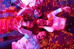 Young People on Party Floor royalty free stock photos