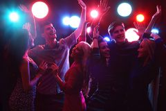 Young people at party. stock photos