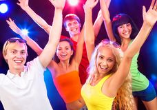 Young people at party. Young people having fun dancing at party Royalty Free Stock Images
