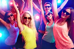 Young people at party. Young people having fun dancing at party stock image