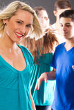 Young people partying Stock Photo