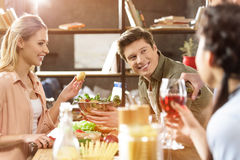 Young people partying at home Stock Photography