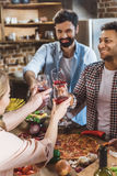 Young people partying at home Royalty Free Stock Photo