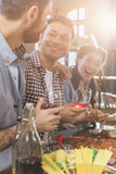 Young people partying at home Royalty Free Stock Image