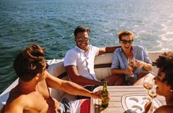 Free Young People Partying On A Boat Royalty Free Stock Photo - 121582865
