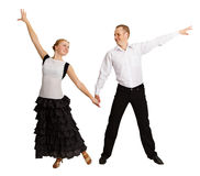 Young people perform ballroom dance Stock Image