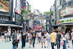 The young people place of Ximending royalty free stock images