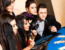Young people playing black jack Stock Photos