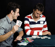 Young people playing poker Royalty Free Stock Photography