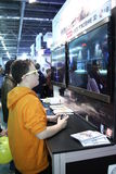 Young people playing video games Stock Image