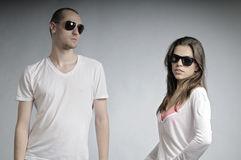 Young people posing Royalty Free Stock Photos