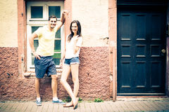 Young People Posing In The Street Royalty Free Stock Images