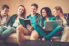 Young people preparing for exams Royalty Free Stock Images