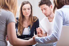 Young people during psychotherapy Stock Photo