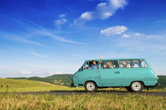 Young people on a road trip Stock Photo