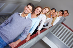 Young people in a row Royalty Free Stock Photo