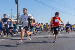 Young people running in Run for Life competition during City Day local activity Royalty Free Stock Photography