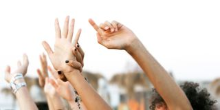 Young people's hand Stock Images