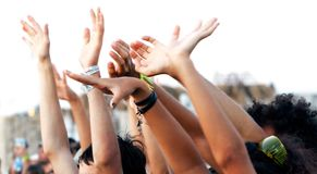 Young people's hands Royalty Free Stock Photos