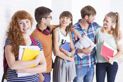 Young people in school Royalty Free Stock Images