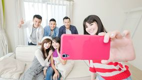 Young people selfie happily Royalty Free Stock Photos