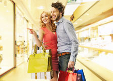 Young people on the shopping Royalty Free Stock Photos