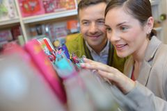 Young people shopping in supermarket stock photo