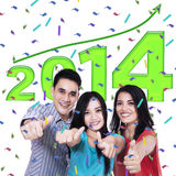 Young people shows thumbs up Stock Images