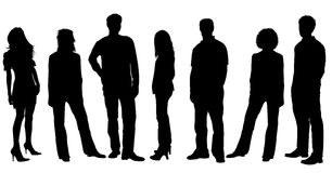 Young People Silhouettes Stock Images